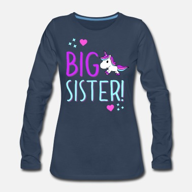Big Big Sister Unicorn Design! - Women's Premium Long Sleeve T-Shirt