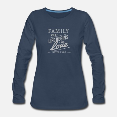 Ace FAMILY MATTERS - Women's Premium Long Sleeve T-Shirt