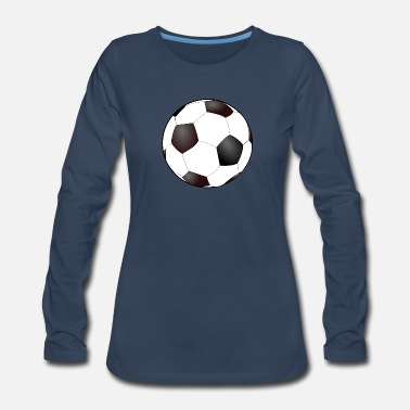Soccer Ball Soccer Ball - Women's Premium Long Sleeve T-Shirt