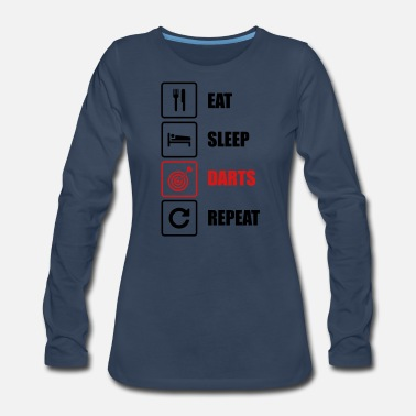 Pitch Eat. Sleep. Darts. Repeat - Women's Premium Long Sleeve T-Shirt