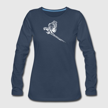 Ara Flying Parrot - Women's Premium Long Sleeve T-Shirt