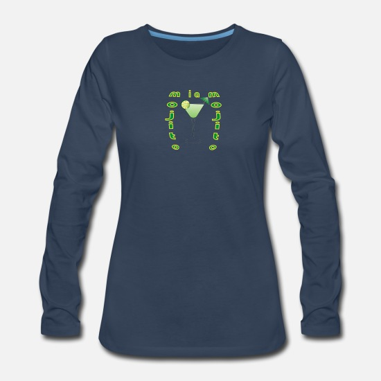 Cocktail Long-Sleeve Shirts - cocktail mojito miam - Women's Premium Longsleeve Shirt navy