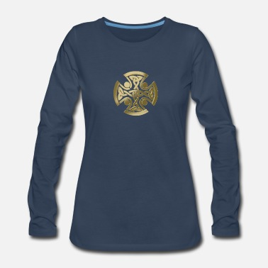 Symbol Celtic golden knot - Women's Premium Long Sleeve T-Shirt