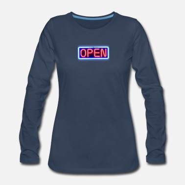 Open Open - Women's Premium Long Sleeve T-Shirt