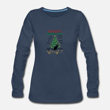 Ugly Christmas Christmas How Cats See A Christmas Tree Gift Idea - Women's Premium Long Sleeve T-Shirt