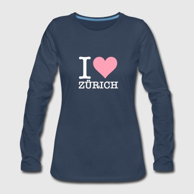I Love Zurich - Women's Premium Long Sleeve T-Shirt