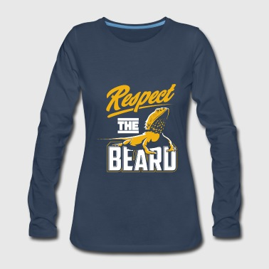 Respect The Beard - Pogona & Bearded Dragon - Women's Premium Long Sleeve T-Shirt