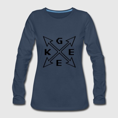 Geek Arrows T Shirt - Women's Premium Long Sleeve T-Shirt