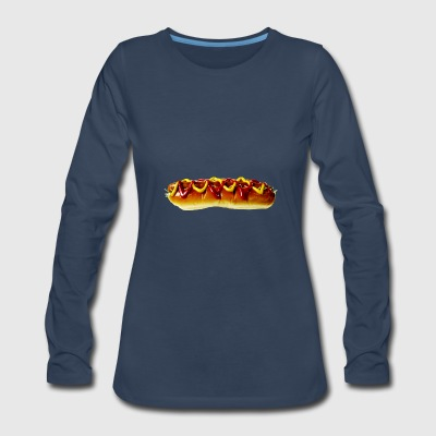 hotdog hot dog sausages fast food fastfood13 - Women's Premium Long Sleeve T-Shirt
