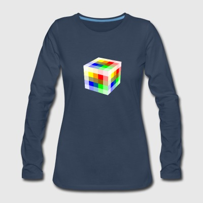 Multi Colored Cube - Women's Premium Long Sleeve T-Shirt