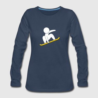 A Snowboarder Jump With His Board - Women's Premium Long Sleeve T-Shirt