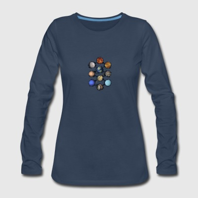 Solar System - Women's Premium Long Sleeve T-Shirt