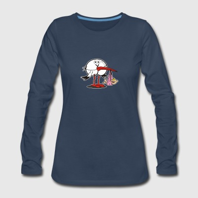 Assmex stork girl - Women's Premium Long Sleeve T-Shirt
