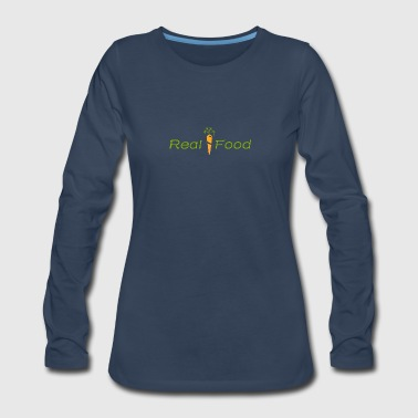 Real Food Carrot - Women's Premium Long Sleeve T-Shirt