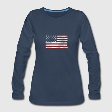 USA Flag - Women's Premium Long Sleeve T-Shirt