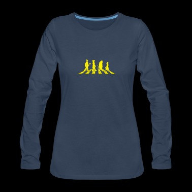 Yellow Brick Abbey Road - Women's Premium Long Sleeve T-Shirt