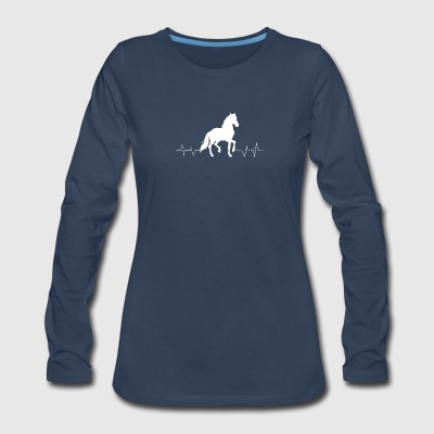 Horse heartbeat lover - Women's Premium Long Sleeve T-Shirt