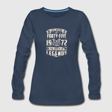 Life Begins At Forty Five Tshirt - Women's Premium Long Sleeve T-Shirt