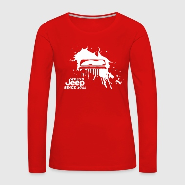 Willys Jeep for Black T shirt - Women's Premium Long Sleeve T-Shirt