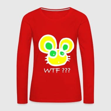 White Rabbit Do you know the WTF Rabbit? Bunny Color Fun Cool - Women's Premium Long Sleeve T-Shirt