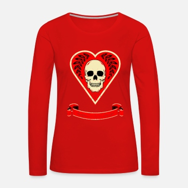 Death of Heart Card - Women's Premium Long Sleeve T-Shirt