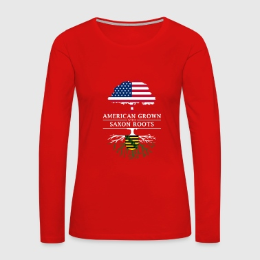 American Grown with Saxon Roots Saxony Design - Women's Premium Long Sleeve T-Shirt