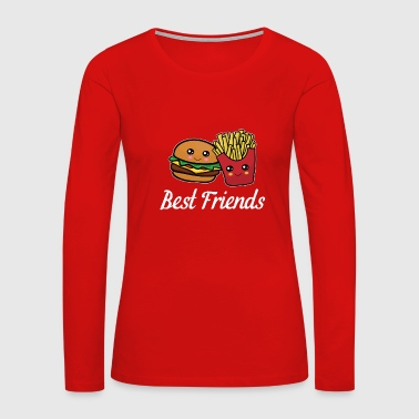Best Friends Funny Cool Burger and Fries Gift - Women's Premium Long Sleeve T-Shirt