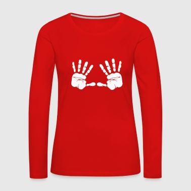 Handprint handprints - Women's Premium Long Sleeve T-Shirt