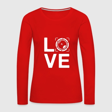 Editor LOVE - photography paparazzi photo editor - Women's Premium Long Sleeve T-Shirt