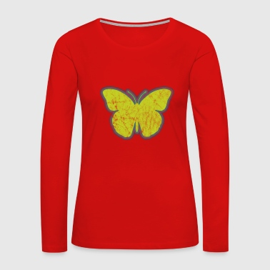 Insect Yellow Butterfly - Women's Premium Long Sleeve T-Shirt
