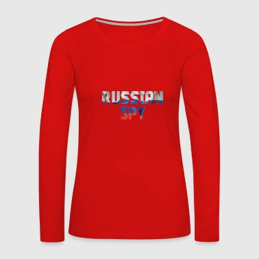 Easy Funny Halloween Costume Russian Spy Trump Putin Spy Tshirt - Women's Premium Long Sleeve T-Shirt
