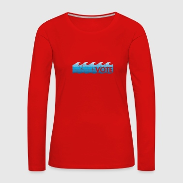 Solidarity Blue Wave Vote - Women's Premium Long Sleeve T-Shirt