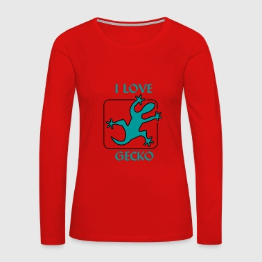 I love Gecko - Women's Premium Long Sleeve T-Shirt