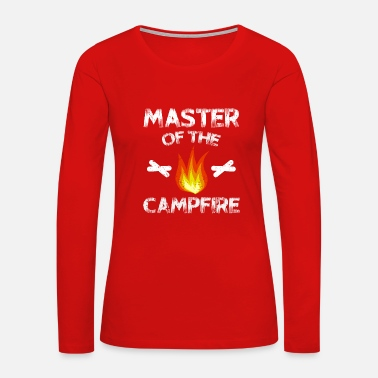Scout Master Of The Campfire Camping T-Shirt Gift - Women's Premium Long Sleeve T-Shirt