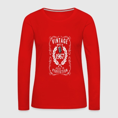 Vintage Made In 1967 Birthday Gift Idea - Women's Premium Long Sleeve T-Shirt