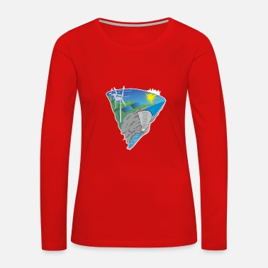 Wind Energy Solar Wind Water Renewable Energy - Women's Premium Long Sleeve T-Shirt
