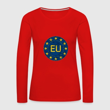 Flag of EU - Women's Premium Long Sleeve T-Shirt