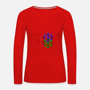 Clip Art clip art geometric designs - Women's Premium Long Sleeve T-Shirt