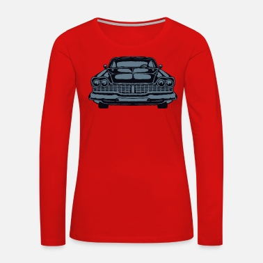 Old Shape American retro vintage car vector image - Women's Premium Long Sleeve T-Shirt