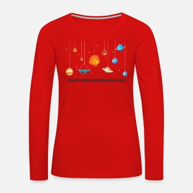 Solar System Flat Earth solar system - Women's Premium Long Sleeve T-Shirt