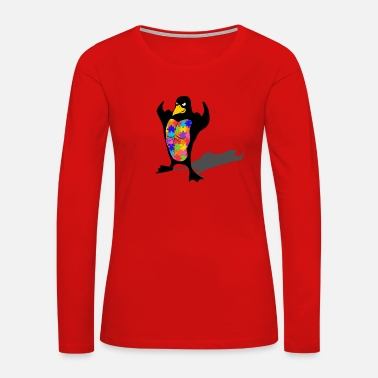 Autism penguin autism shirt - Women's Premium Long Sleeve T-Shirt