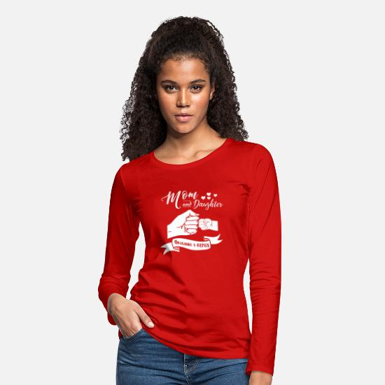 Original Long-Sleeve Shirts - Mom And Daughter Original And Remix - Women's Premium Longsleeve Shirt red