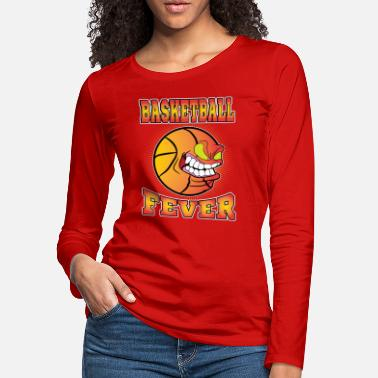 Baseball Cartoon Baseball Fever Cartoon Design - Women's Premium Longsleeve Shirt