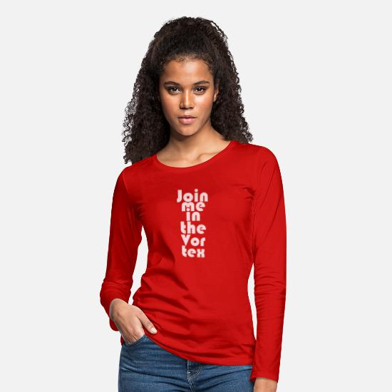 Gift Idea Long-Sleeve Shirts - Law Of Attraction Vortex Halftone - Women's Premium Longsleeve Shirt red