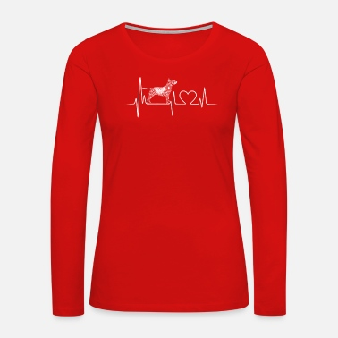 Bull Terrier Clothing Bull Terrier Heartbeat Shirt - Women's Premium Long Sleeve T-Shirt