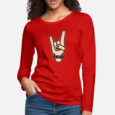 Devil Horns Sign of the horns Rock gesture - Women's Premium Longsleeve Shirt