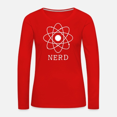 Brain Nerd Atom Science Physics - Women's Premium Long Sleeve T-Shirt