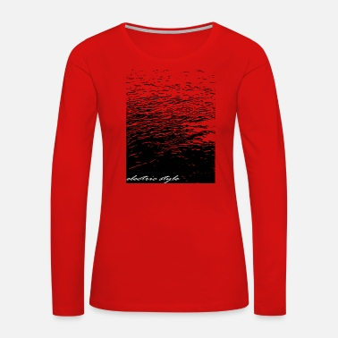 Electricity Electricity water, electrical art - Women's Premium Long Sleeve T-Shirt