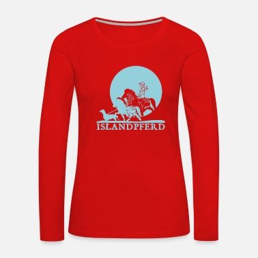Island Icelandic Horse: Pony Merch - Women's Premium Long Sleeve T-Shirt