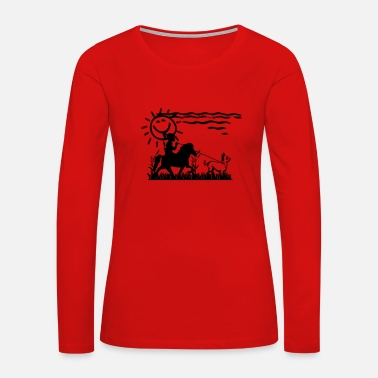 Horse Riding Icelandic Horse: Pony Merch - Women's Premium Long Sleeve T-Shirt